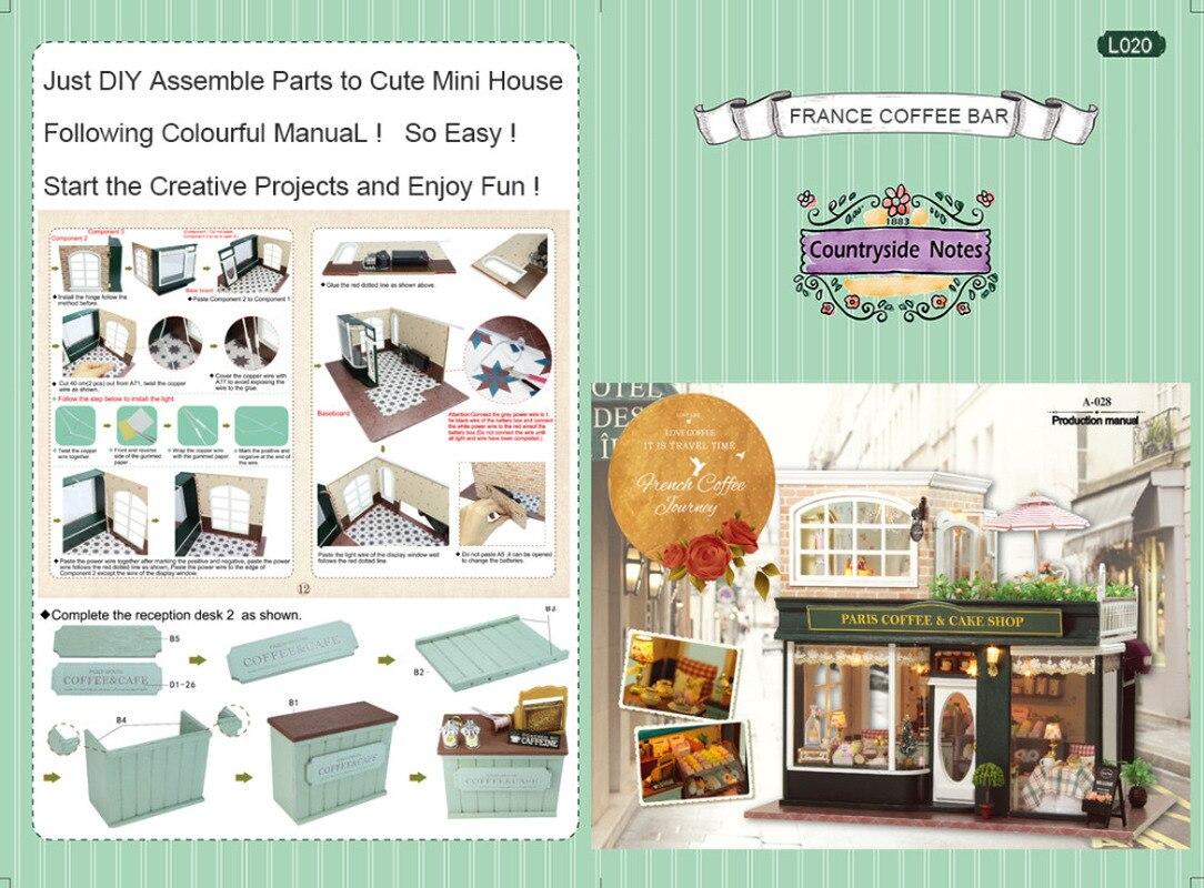 3D миниатюрный кукольный домик ручной сборки архитектурный Diy кукольный домик деревянная мебель игрушечные дома для детей подарок для взрос... - 6