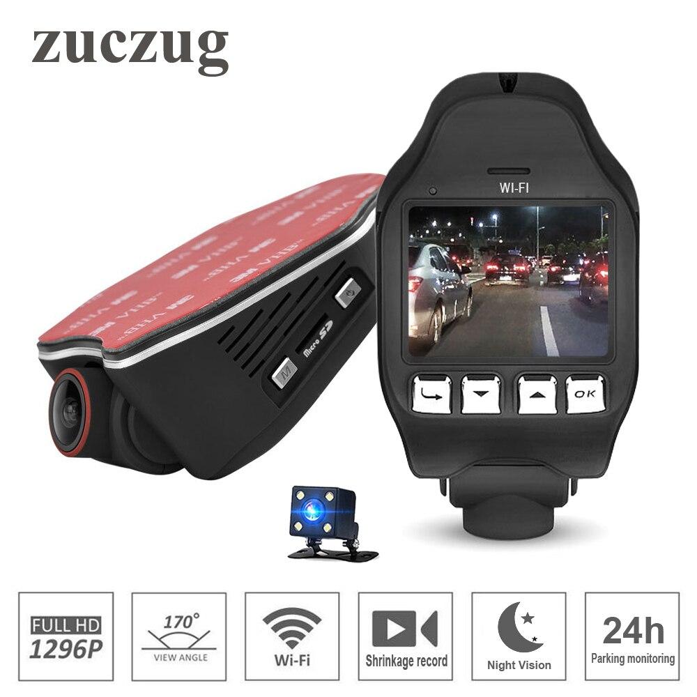 ZUCZUG Novatek 96655 2.0 pouces voiture cachée DVR wifi 1296 P Vision nocturne universel Dash Cam enregistreur sans fil double caméras g-sensor