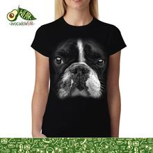 Boston Terrier Face Animals Women T-shirt M-3XL NewStreetwear Funny Print Clothing Hip-Tope Mans T-Shirt Tops Tees Hot Sale Men floral skull women t shirt s 3xl newstreetwear funny print clothing hip tope mans t shirt tops tees hot sale men t shirt fashion