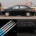 12 шт нержавеющая сталь Дверная оконная рама подоконник формовочная отделка для Toyota Corolla EX