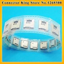 ChengHaoRan 50 PCS Para Samsung B3210 S5230 S5233C S3930 W589 F488E M628 Cartão Sim Leitor Titular Slot Da Bandeja, KA-086