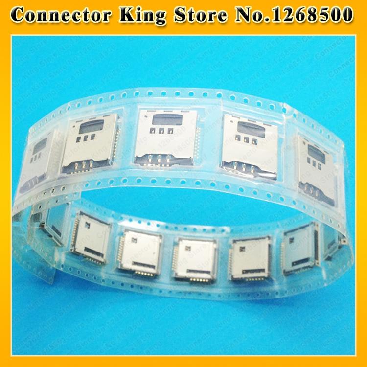 ChengHaoRan 50PCS For Samsung S5230 S5233C S3930 W589 F488E M628 B3210 Sim Card Reader Holder Slot Tray ,KA-086