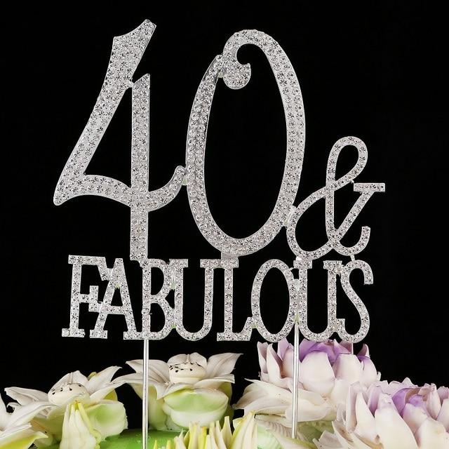 40 Fabulous Birthday Cake Topper