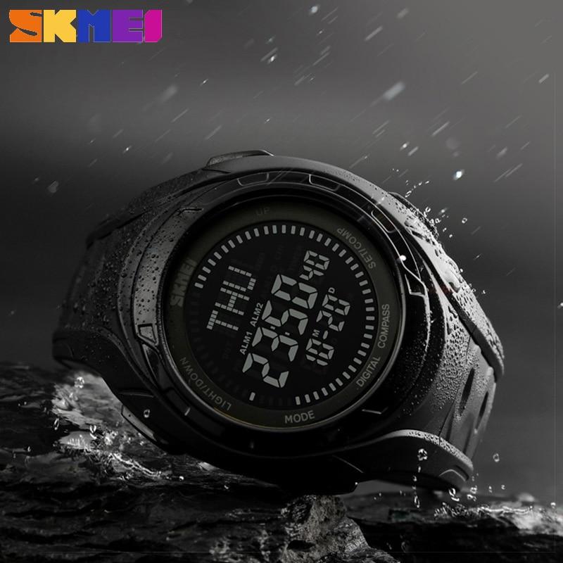 Trendy Brand SKMEI 1314 Sports Compass Watch 50M Water Shock Proof Digital Wristwatch Alarm Clock Countdown Men Sports Watches outdoor sports watches men skmei brand countdown led men s digital watch altimeter pressure compass thermometer reloj hombre