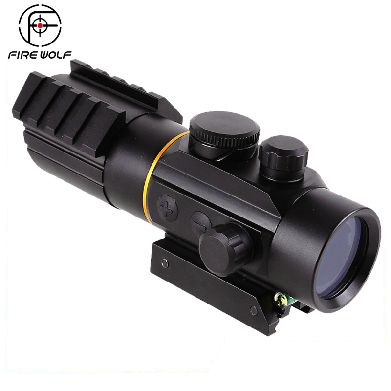 Fuego Lobo 3X42 Red Dot Sight con espíritu nivel de burbuja Fit Picatinny Rail Mount 11mm o 20mm Riflescope caza tiro
