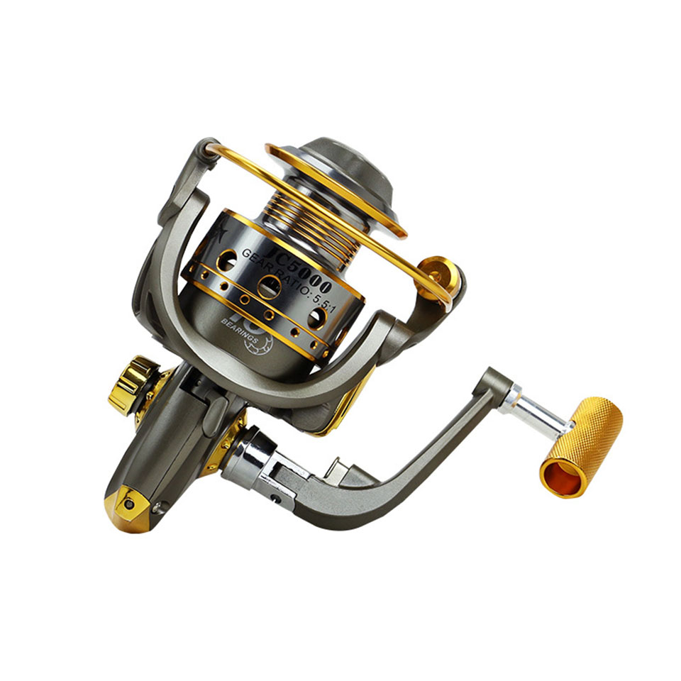 High Quality Spinning Fishing Reel 10BB 5.5:1 1000-7000 Series Metal Spool Carp Fishing Reels Coil Wheel Tackles