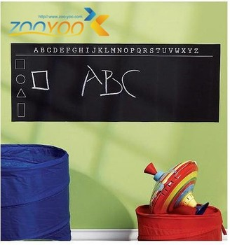 45*200cm black board wall stickers for kids room zooyoo202 decorative nursery adesivo de parede removable chalkboard wall decals thumbnail