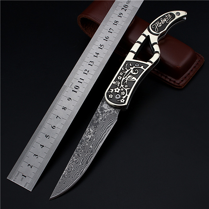 2017 New Outdoor Fixed Tactical Damascus Folding Hunting Knife High Hardness Wilderness Self-defense Survival Camping Knives 2017 new free shipping fixed tactical outdoor army knives self defense high hardness survival camping hunting knife black gold
