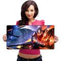 Large 600*300mm Gaming Mouse Pad Stitched Edges Silky Smooth Surface Mat Ultra Thick