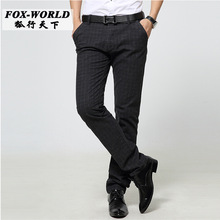Quality fashion casual pants trousers 2016 spring and summer men's ultra-thin quality elastic casual pants
