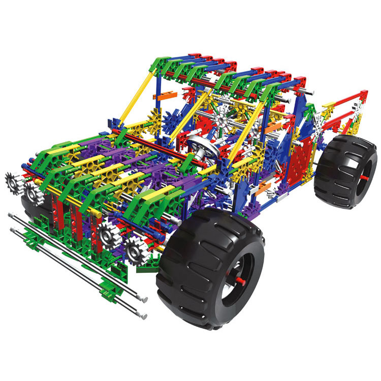 8117A Battery Powered Electric jeep 597PCS Building Block Toy Kids Bricks Toys