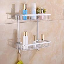 Bad Dusche Bad Halter Aluminium Lagerung Rack Für Shampoos Dusche Gel Küche Hause Balkon Regal Hängen Rack Haken