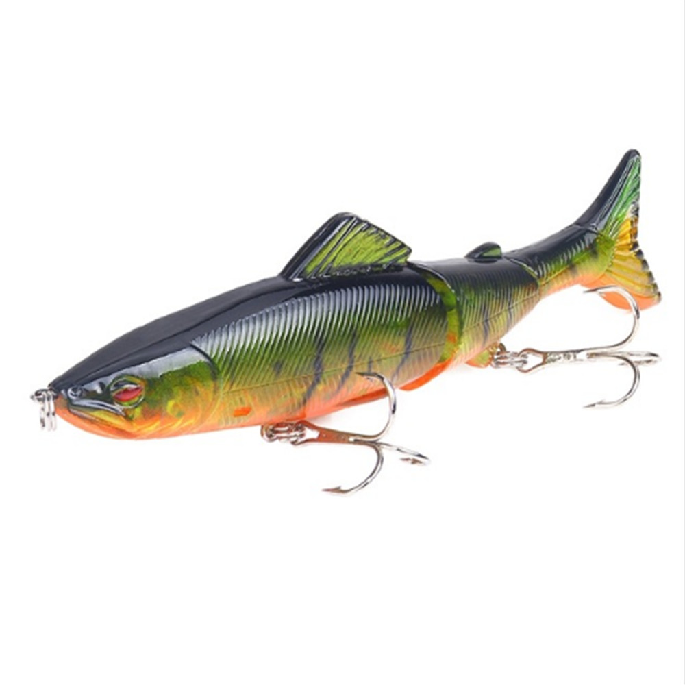 1pcs Minnow Fishing Lure 130mm 18.5g Multi Jointed Sections Crankbait Artificial Hard Bait Bass Trolling Pike Carp Fishing Tools(China)