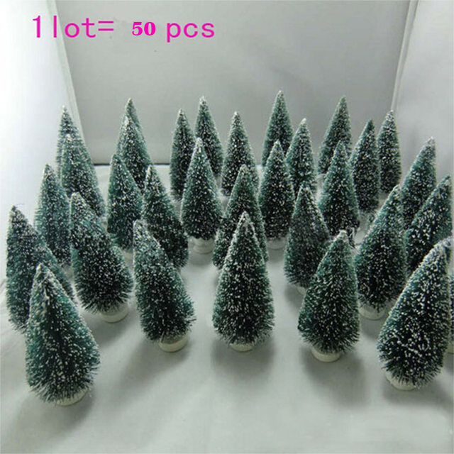 mini christmas tree decorations50 pcs christmas tree a small pine treeplaced in the desktop mini christmas tree free shipping