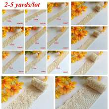 2-5 Yards /lot embroidered Cotton lace Sewing Accessories craft Handmade for clothing/bag/wedding/Christmas/Scrapbooking H-2