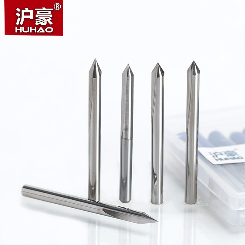 HUHAO 1PC 3.175mm 2 Flutes Straight Engraving Bits Deep Cutter For Wood Hardwood CNC Carving Bits Carving Machine Tools End Mill