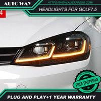 Car Styling Head Lamp case for VW golf7.5 golf 7.5 2017 2018 MK7.5 Headlights golf LED MK7.5 Headlight H7 D2H Hid Xenon Beam