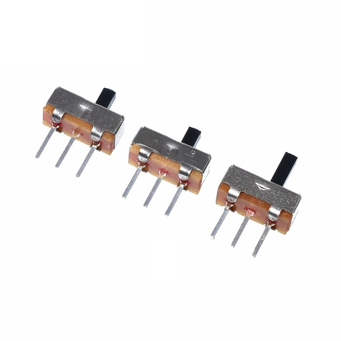 20Pcs/Lot SS12D00G3 SS-12D00G3 Slide Switch 2 Position SPDT 1P2T 3Pin PCB Panel Mini Vertical Toggle Switches For DIY