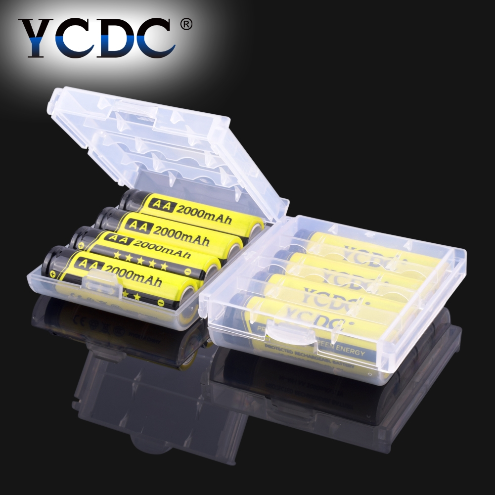 YCDC New + High quality 12 Pcs YCDC AA 2000 mAh Pre/Stay Charge Ni-MH Cells Rechargeable Batteries