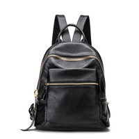 2017 New Fashion Women Backpack Youth Vintage Genuine Leather Backpacks For Teenage Girls New Female School