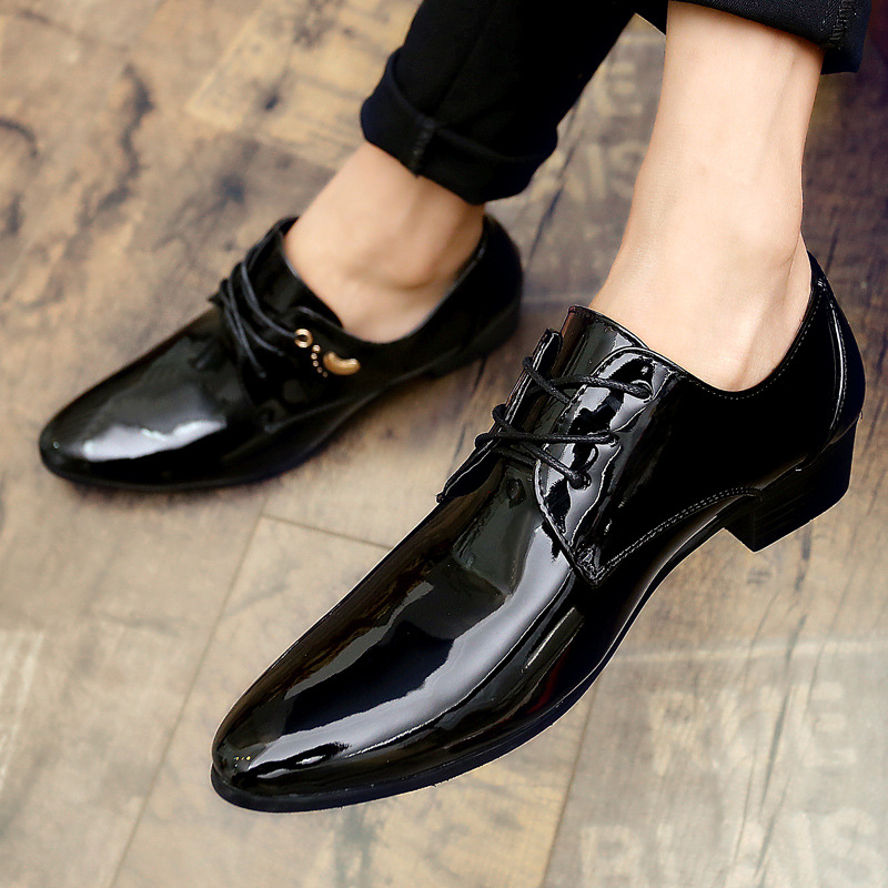 new business men shoes pointed toe patent leather black formal wedding dress shoes men 2018 oxford shoes for men chaussure homme ozzeg patent leather oxford shoes for men dress shoes men formal shoes pointed toe business wedding plus size 49 50 rme 308