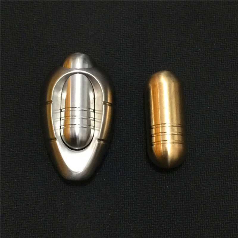 Stainless Steel Brass Silkworm Cocoon Push Egg EDC Toy Metal Push Egg Adult Decompression Toy Fingertip