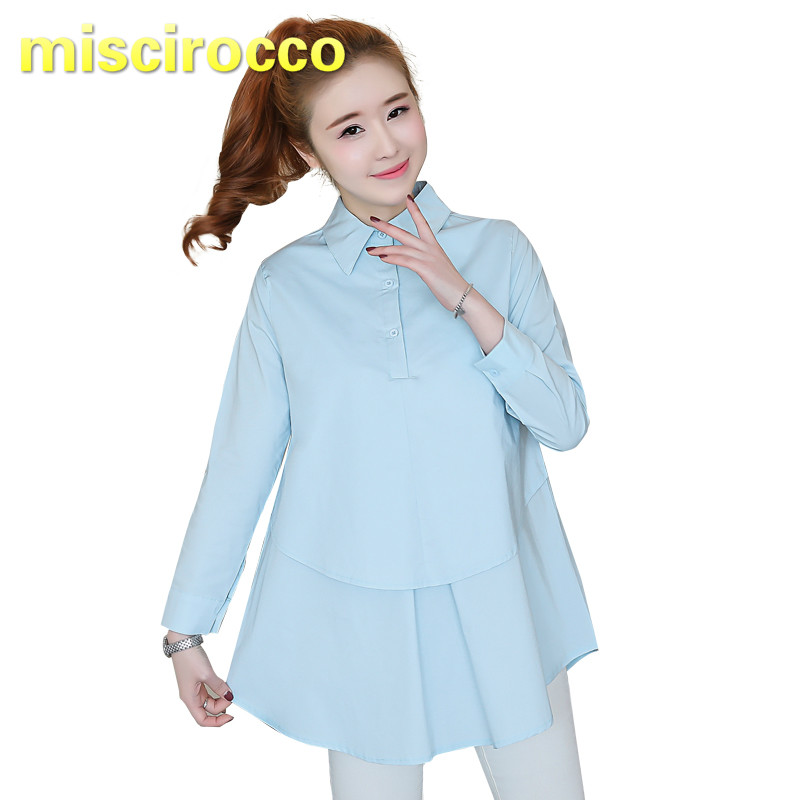 Maternity Shirt Cotton Pregnant Women's Shirt Long Sleeve Office Clothes Women Spring Top OL Womens Clothing Maternity Tops