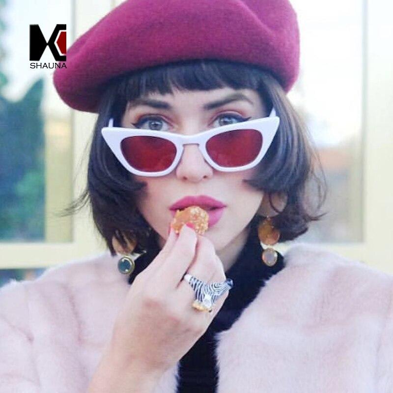 SHAUNA Fashion Cat Eye Sunglasses Women UV400