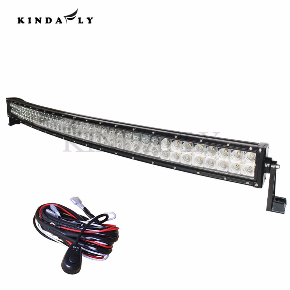 KINDAFLY IP68 42 Inch 400W Curved Off Road LED Light Bar with Wiring Harness Kit Spot aliexpress com buy kindafly ip68 42\