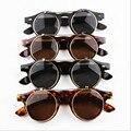 Venda quente Steampunk Goth Óculos Goggles Rodada Flip Up Óculos De Sol Retros Do Vintage Acessórios de Moda
