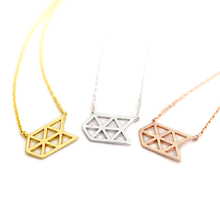 Fashion arrow necklaces Personalities mesh arrow pendant necklace Geometric rules of netting necklaces for women