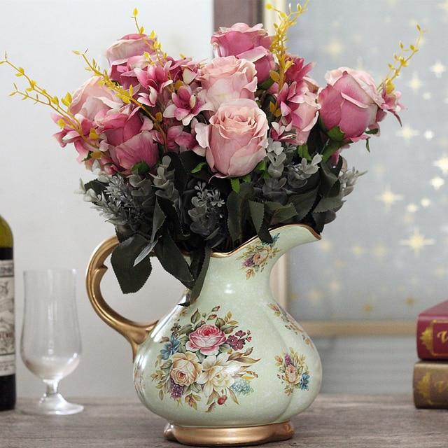Retro avase de flores flores secas florero jarrones para - Jarrones decorativos para jardin ...