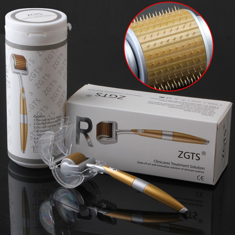 ZGTS 192 Needles Microneedle Derma Roller Skin Care Titanium Stainless Steel Seamless Hair Loss Derma Roller