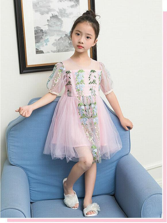 Baby   Girls   Kids Vintage Lace   Dress   Xmas Party Wedding   Flower     Girl     Dresses   Fancy