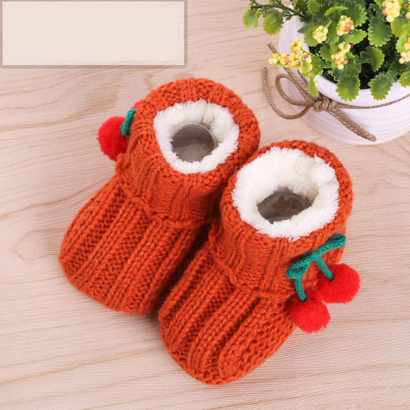 Unisex Baby Shoes For Boy And Girls Newborn Bootie Winter Warm Infant Toddler Crib Shoes Knitted Wool Floor First Walkers TS161