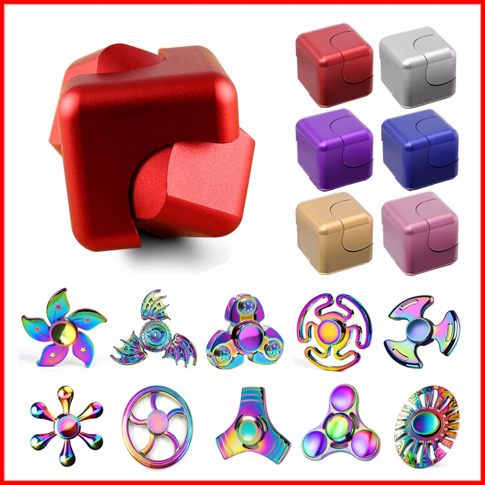 Newest Colorful Fidget Spinner Cube Hand Finger Spinner Metal Designed Adult Stress Relieve Kid Child Toy Rotation Gift Gyro 32pcs lot dhl free shipping high quality fidget toys edc hand spinner for autism and adhd anxiety stress relief toys