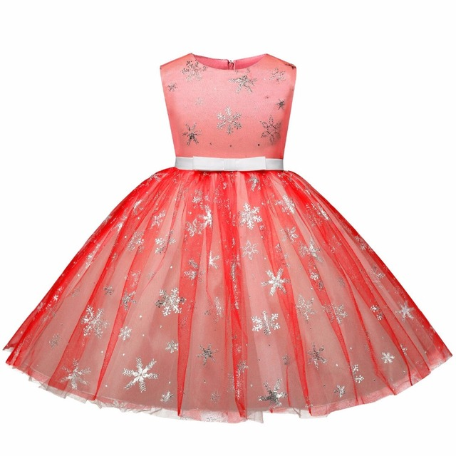 f3ac37771 Toddler Kids Baby Girl Christmas Party Dress Girls Clothes Elsa Snowflake  Halloween Costume Xmas Red Dress Teenager Clothing 10T