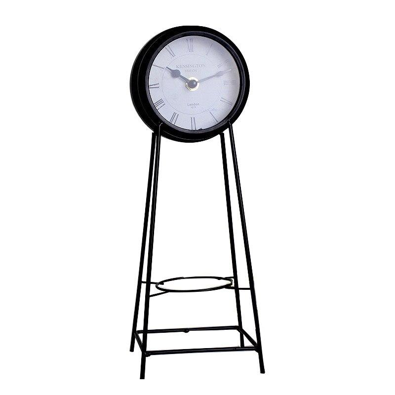 Décor à la maison horloge abstraite rétro américain bureau horloge décor à la maison horloge créative muet maison chambre bureau horloges