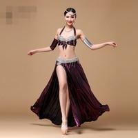 New Belly Dance Costume S M L Sexy Dancing Women Dance Clothes Set Bellydance Wear High