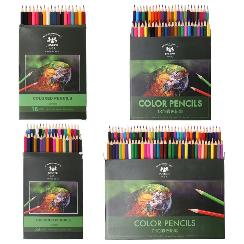18/36/48/72 Colors Fine Art Drawing Writing Wooden Non-toxic Oil Base Pencils Pen Set For Artist Sketch Stationery Supplies  18/36/48/72 Colors Fine Art Drawing Writing Wooden Non-toxic Oil Base Pencils Pen Set For Artist Sketch Stationery Supplies