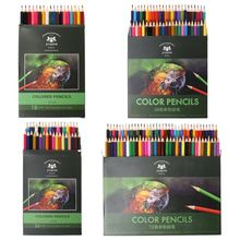18/36/48/72 Colors Fine Art Drawing Writing Wooden Non-toxic Oil Base Pencils Pen Set For Artist Sketch Stationery Supplies deli 24 36 48 72 colors professional color pencils set for drawing sketch stationery art school artist supplies colour pencils