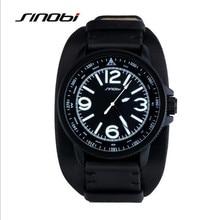 SINOBI Marca de Fábrica Superior de Lujo de Los Hombres Reloj Deportivo de Cuero Casual Reloj de Cuarzo Reloj Masculino Impermeable Reloj Relogio masculino 9556