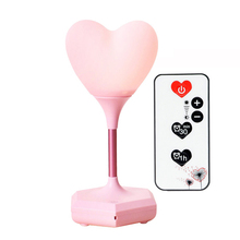 Led Charging Decorative Lamp Usb Night Light remote loving heart Novelty Baby 3D Atmosphere light Bedside girl gift Touch bulbs novelty lamp usb charging night light touch sensor silicone pat lamp cartoon led bedside atmosphere nightlight for christmas