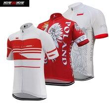 Джерси для велоспорта poland national team для мужчин pro с коротким рукавом лето pro белый и красный велосипед одежда дорожный костюм для велосипедного спорта дышащий