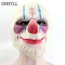 GNHYLL Batman Clown Joker Mask Latex Full Face Adults Head Payday Cosplay Costume Party For Halloween