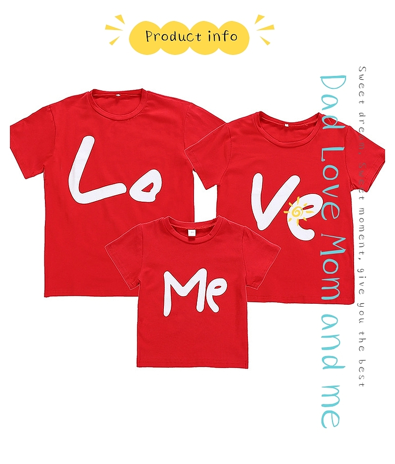 HTB141YlV9zqK1RjSZPcq6zTepXaJ - Family Matching Clothes Women Day Mother Daughter Baby Boy Kid Girls Father Son Short Sleeve Valentine Top Love Me T-shirt