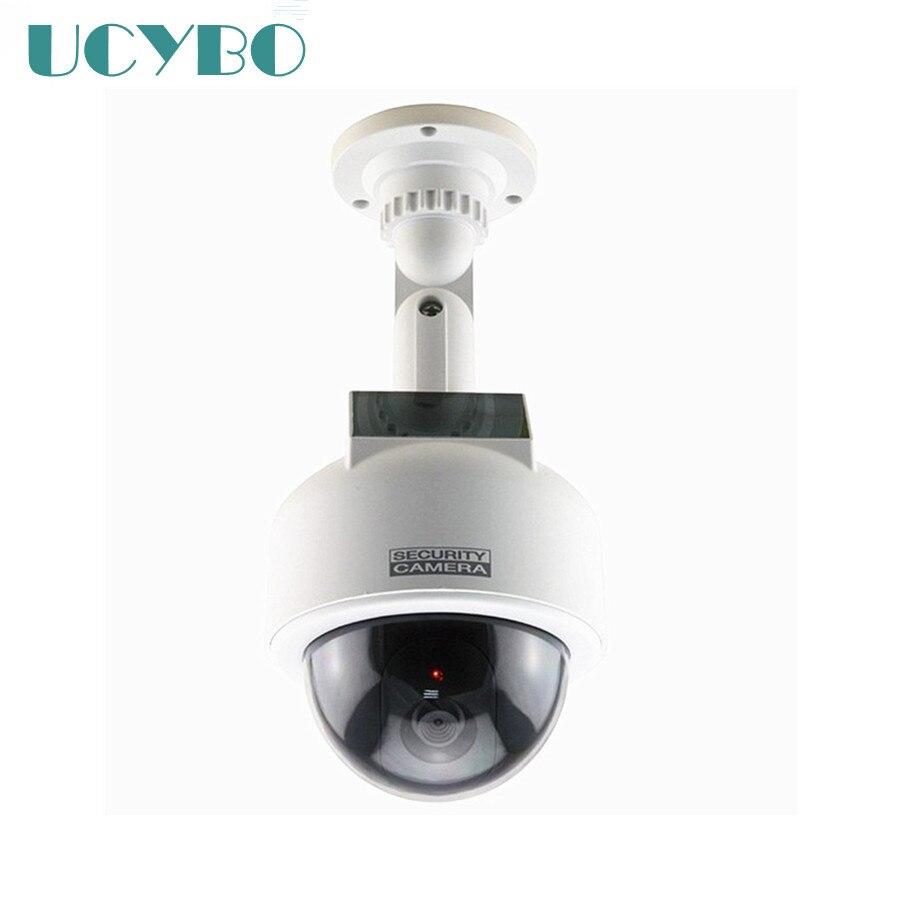 Faux de sécurité factice caméra solaire alimenté cctv surveillance vitesse dôme ptz faux caméra Clignotant LED ROUGE