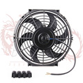 "Kylin Store -- 10""  Universal Electric Radiator Auto Fan Push Pull With Mounting Kit Type S 10""12V 90W Slim Reversible Black"