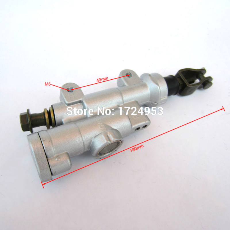 Rear brake pump brake master cylinder pump for 2004-2012 CR125 CR250 CRF250 CRF450 X R xmotos kayo Zhenglin dirt bike parts 14mm brake pump master cylinder piston pump seal preventing dust seal component sight glass repair kits for gn250 1982 2001