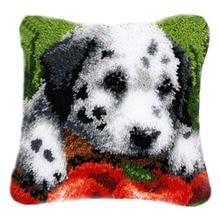 DIY Latch Hook Kits Rug Pillowcase Crocheting Cushion Carpet Unfinished Handmade Canvas Rugs Mat Cartoon Adults Kids Gift Dog